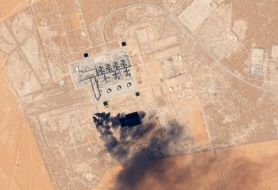 Khurais Oil Processing Facility Saudi Arabia by Planet Labs
